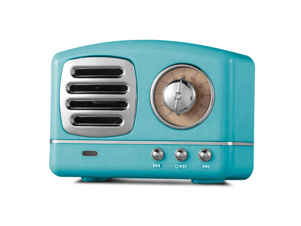 Retro Bluetooth Speakers- Blue - Product Image