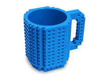 Build-On Brick Mug - Blue - Product Image