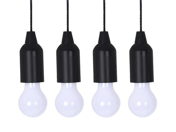 Pull Light: Battery-Powered LED Pendant Lights (4-Pack)