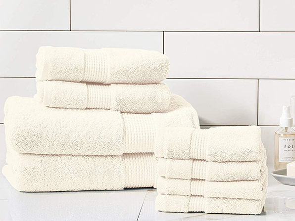 Turkish Cotton 700 GSM Towels: Set of 8 (Ivory)