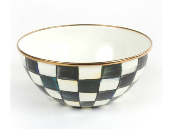 """MacKenzie-Childs Courtly Check Enamel Everyday Bowl - Small 7.75"""" dia., 3.5"""" tall (5 cups) - Product Image"""
