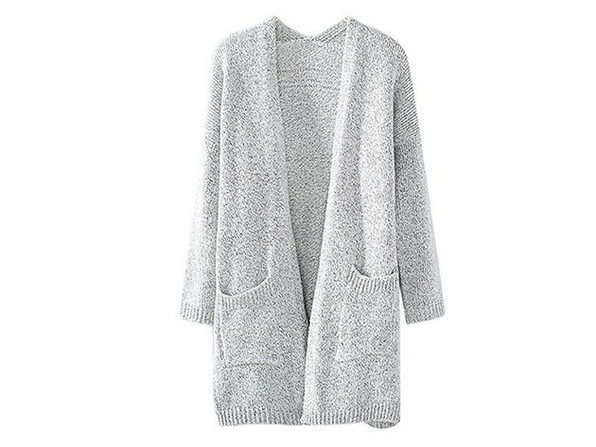 Gray Knit Cardigan (Extra Large)