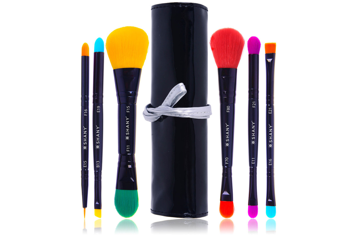 SHANY LUNA 6 PC Double Sided Travel Brush Set with Pouch – Synthetic, now on sale for $11.95
