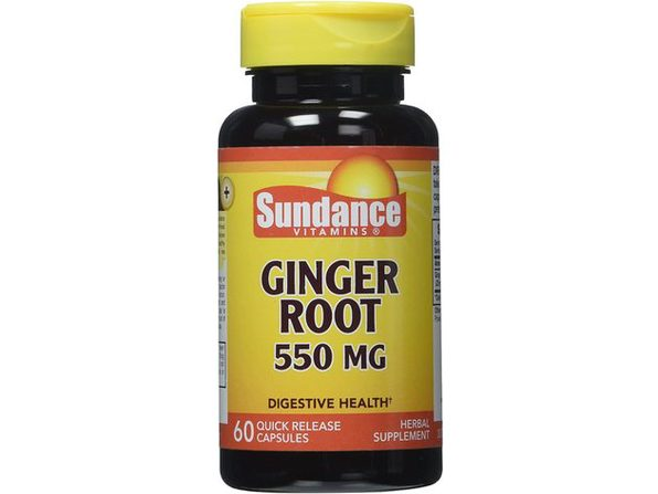 Sundance Vitamins Ginger Root Capsules, A Natural Stomach-Soother, Supports Digestive Health, 60 Count