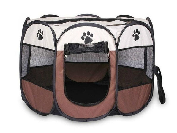 Portable Pet Tent (Coffee Small) - Product Image