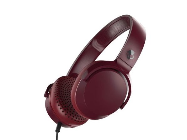 Skullcandy Riff On-Ear Durable Headphone - Deep Red