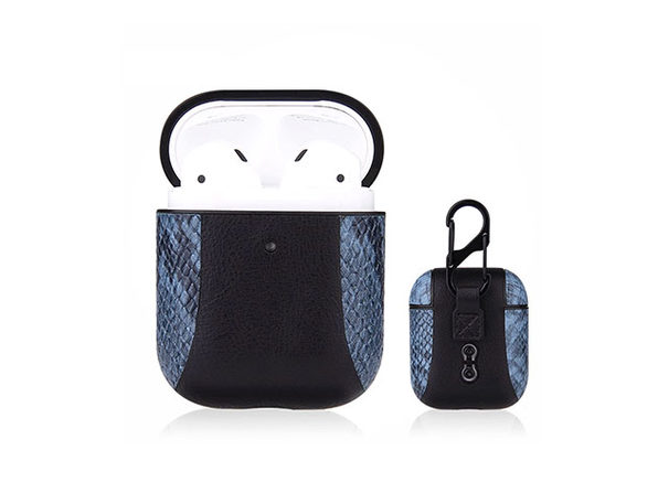 iPM PU Leather Protective Case For Airpods - Blue - Product Image