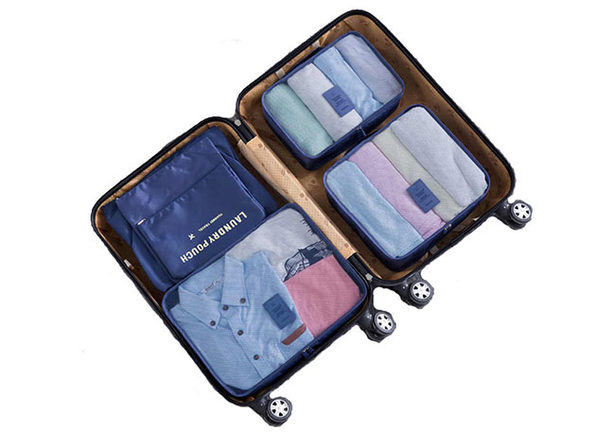 Travel Packing Bags & Storage Cubes: Set of 6