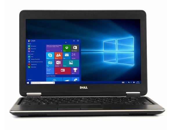 "Dell Latitude E7240 12"" Laptop, 1.6 GHz Intel i7 Dual Core Gen 4, 4GB RAM, 128GB SSD, Windows 10 Home 64 Bit (Refurbished Grade B)"