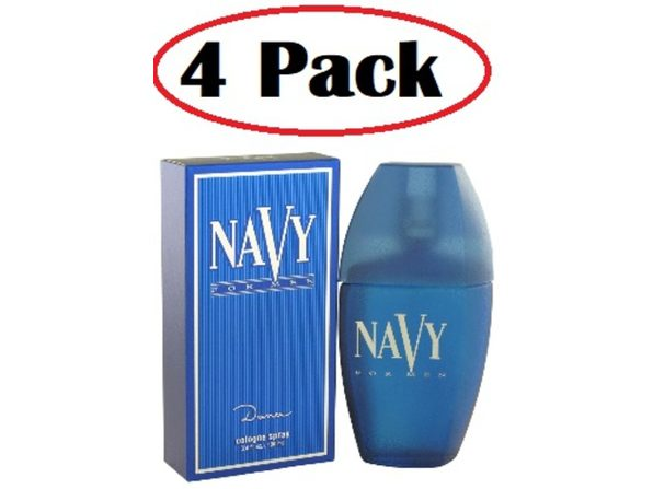 4 Pack of NAVY by Dana Cologne Spray 3.4 oz - Product Image