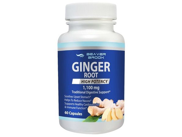 Beaver Brook Ginger Root High Potency 1,100mg All Natural Dietary Supplement - 60