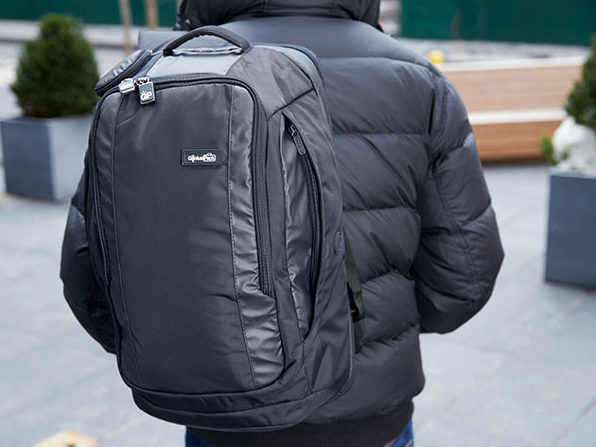 Genius Pack Travel Backpack with Integrated Garment Suiter