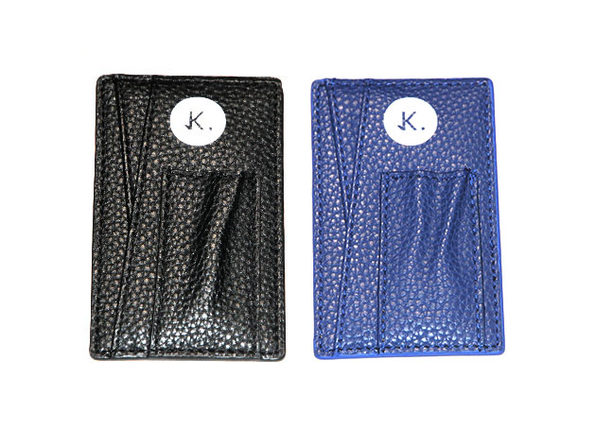 Credit Card Holder: 2-Pack (Danger Black & Lagoon Blue)