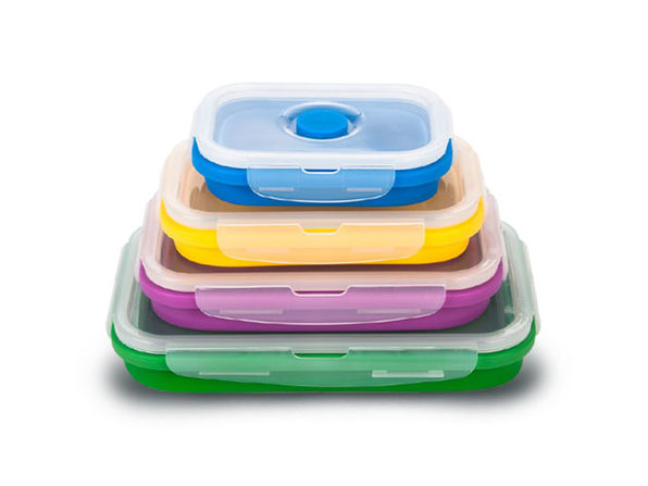 SmartPan 4-Piece Collapsible Lunch Box Sets
