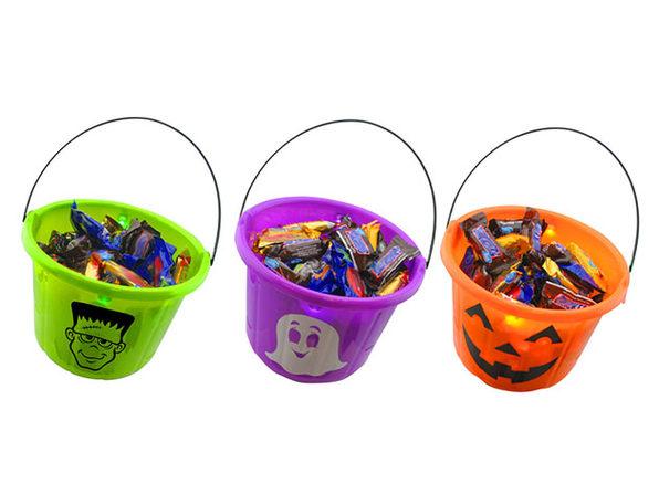 Halloween Light Up Trick-or-Treat Bucket (3-Pack)