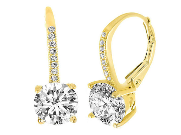 Leverback Earrings with Swarovski Elements