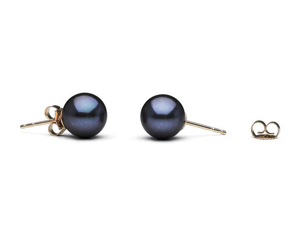Freshwater Pearl Earrings (Black)