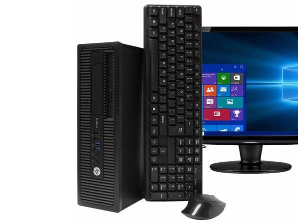 "HP ProDesk 600G1 Desktop PC, 3.2GHz Intel i5 Quad Core Gen 4, 8GB RAM, 500GB SATA HD, Windows 10 Home 64 bit, 22"" Screen (Renewed)"