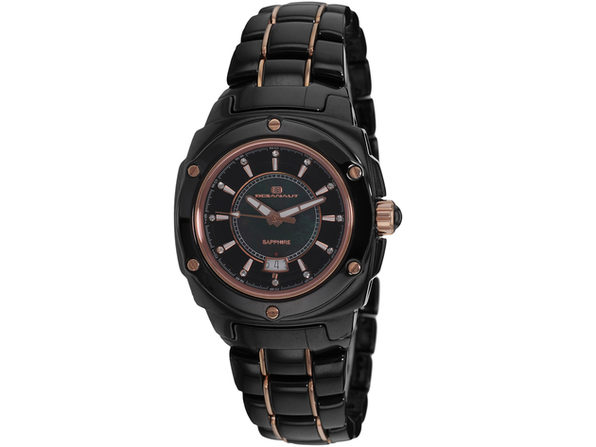 Oceanaut Women's Ceramic Black MOP Dial Watch - OC0412