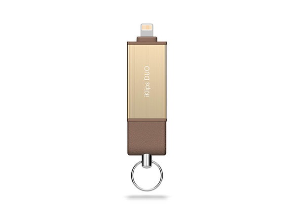 iKlips DUO Flash Storage Solution 128GB (Gold)