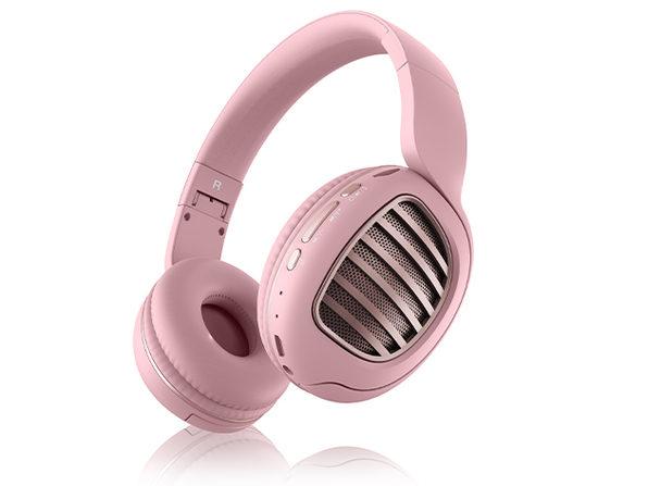 Aduro KeyNote Foldable Wireless Headphones (Pink/Rose Gold)
