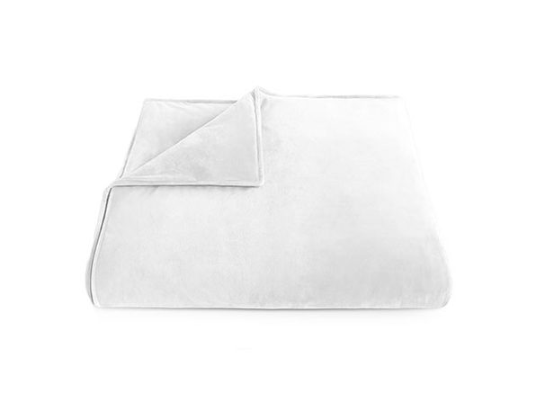"Home Collection White Weighted Blanket (18LB/60"" x 80"")"