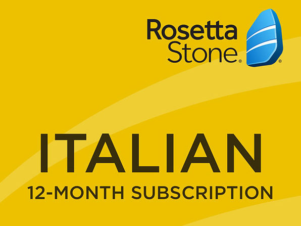 Rosetta Stone - 12 month Subscription - Italian - Product Image