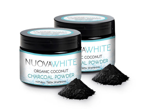 NUOVAWHITE Natural Activated Charcoal Teeth Whitening Powder: 2-Pack