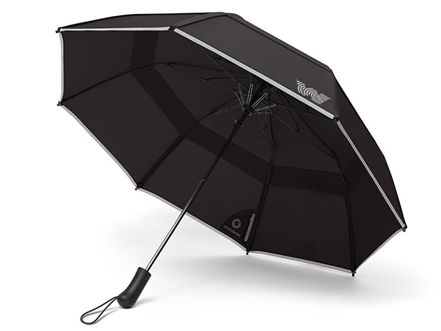 These heavy-duty umbrellas will hold up against rain