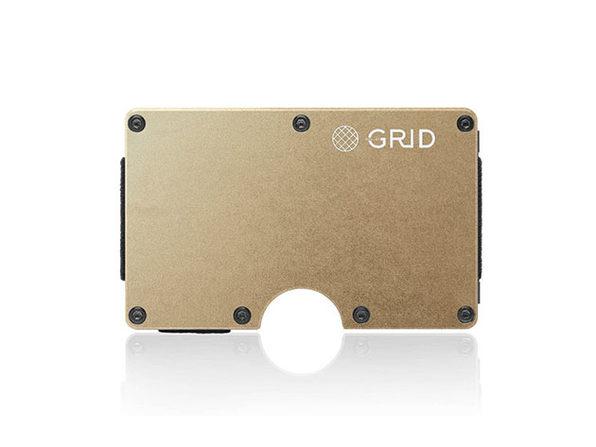 Grid Wallet (Gold Aluminum)