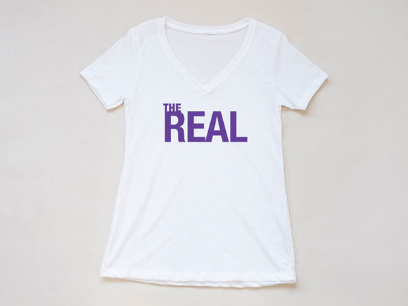 The Real White V-Neck T-Shirt (Large)