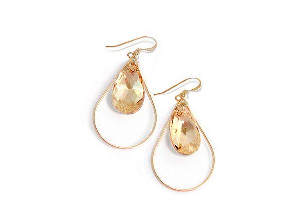 Sonia Hou SELFIE Earrings Ft. Swarovski Crystals (Naked)