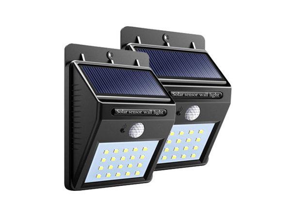 20 LED Solar-Powered Motion Sensor Security Light: 2-Pack