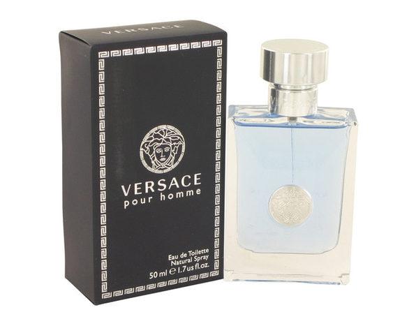 Versace Pour Homme by Versace Eau De Toilette Spray 1.7 oz for Men (Package of 2)