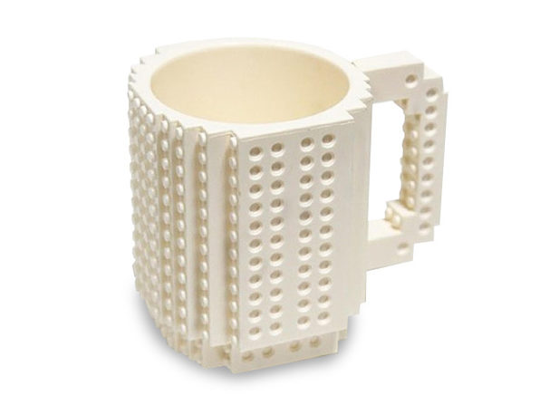 Build-On Brick Mug (White)