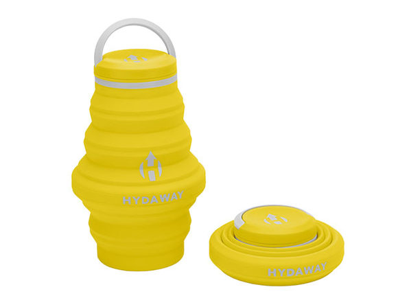 Hydaway 17oz Collapsible Water Bottle with Cap Lid (Yellow)