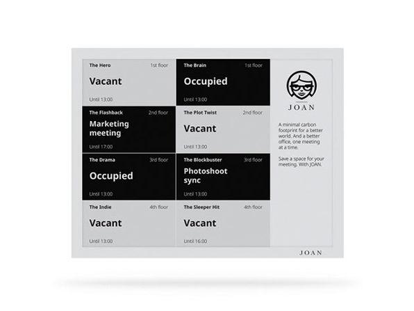 Joan 13: Simple Meeting Room Display (Slate Grey)