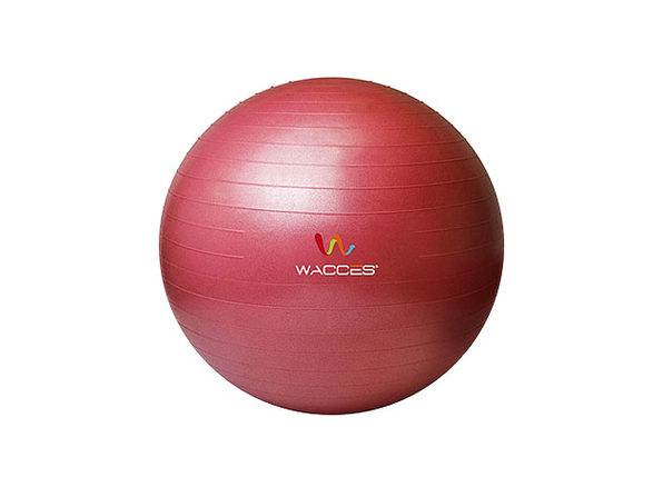 Wacces Anti-Burst  Yoga Ball with Pump - Red, 55 cm - Product Image