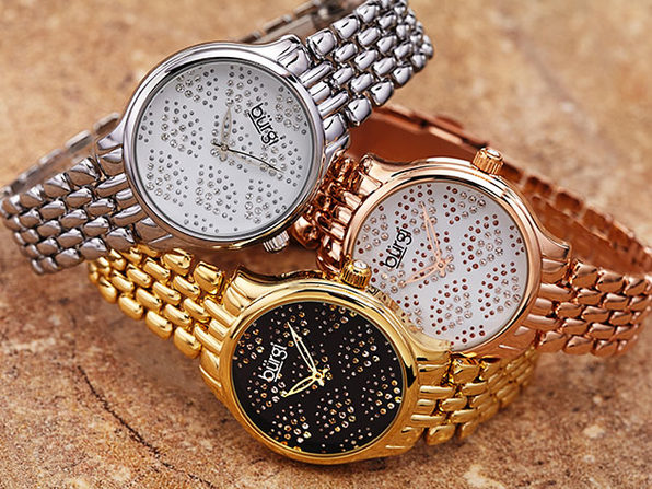 Burgi Swarovski Crystal Diamond Bracelet Watch