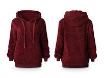 Plush Pullover Hoodie, Medium - Product Image