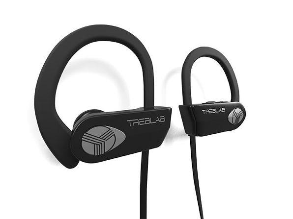 TREBLAB XR500 Wireless Sports Earbuds (Black/Silver)