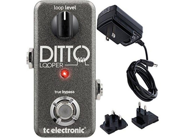 TC Electronics Ditto Looper Effects Pedal Bonus Power Supply Gray 24-bit (Used, Open Retail Box)