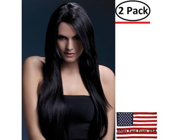 ( 2 Pack ) Amber Wig - Black