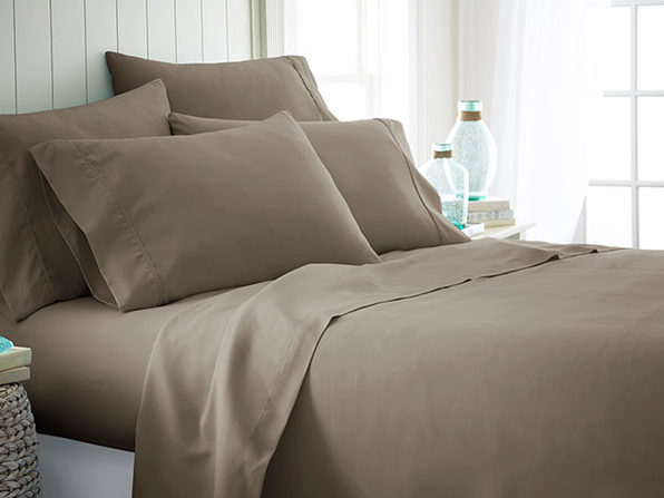 iEnjoy Home Taupe 6-Piece Sheet Set (Full)