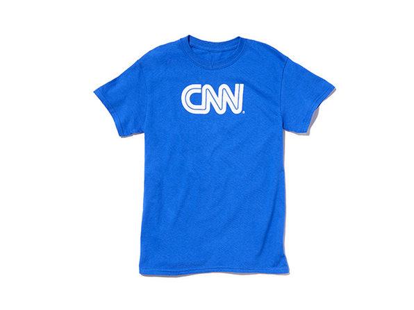 CNN Basic Tee  Royal  L