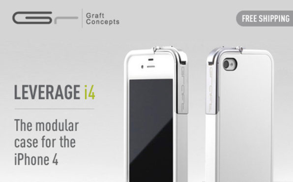 Leverage for iPhone 4/4S (White/Matte) - Product Image