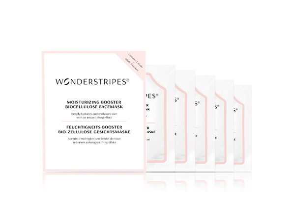 WONDERSTRIPES Hyaluron Moisturizing Biocellulose Face Mask: 5-Pack
