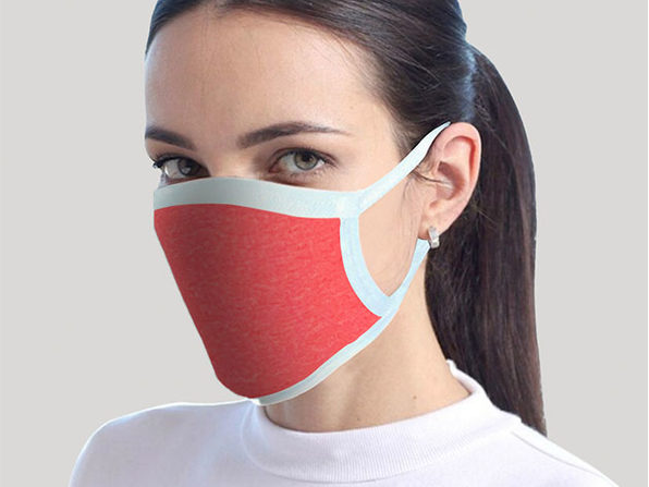 Reusable Face Masks: 4-Pack (Red)