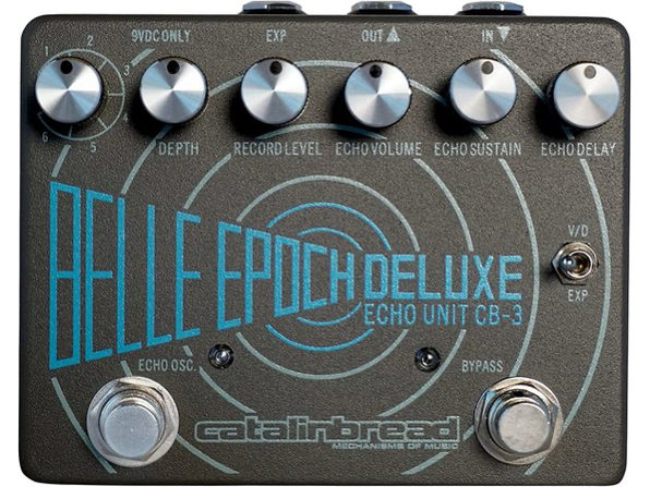 Catalinbread Belle Epoch Deluxe Delay Reverb Guitar Effects Pedal - Black (Like New, Damaged Retail Box) - Product Image