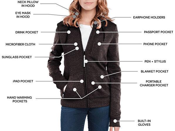 BauBax Women's Sweatshirt (Charcoal/Small)